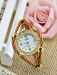 Недорогие -Жен. Часы-браслет На каждый день Мода Черный Белый Синий сплав Китайский Кварцевый Черный Красный Розовый Повседневные часы Милый Аналоговый