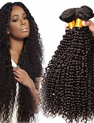 cheap -4 Bundles Peruvian Hair Kinky Curly 100% Remy Hair Weave Bundles 400 g Headpiece Natural Color Hair Weaves / Hair Bulk Bundle Hair 8-28 inch Natural Color Human Hair Weaves Odor Free Extender Soft