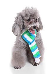 Недорогие -Собаки Шарф для собаки Зима Одежда для собак Зеленый Красный Костюм Бульдог Мопс Бишон Фриз 100% коралловый флис Полоски Персонажи Сохраняет тепло Бижутерия S M L