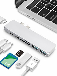 cheap -Type-C Adapter <1m / 3ft All-In-1 Aluminum USB Cable Adapter For Macbook / MacBook Air / MacBook Pro