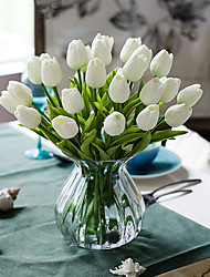 cheap -Artificial Flowers 10 Branch Classic European Simple Style Tulips Tabletop Flower