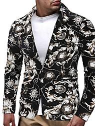 cheap -Men's Blazer Shawl Lapel Polyester Black
