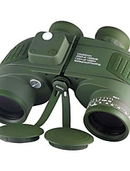 cheap -Boshile 10 X 50 mm Binoculars with Rangefinder and Compass Lenses Waterproof, Night Vision in Low Light,Roof Prism Fully Multi-coated BAK4 Night Vision Metal IPX-7 Army Green
