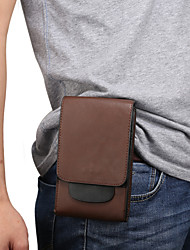 cheap -6 inch Case For Universal Card Holder Waist Bag / Waistpack Solid Colored Soft PU Leather