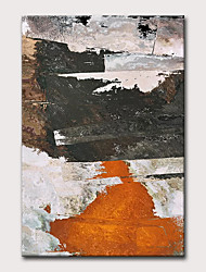 cheap -Oil Painting Hand Painted - Abstract Modern Rolled Canvas