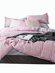 cheap -Duvet Cover Sets Luxury / Stripes / Ripples / Contemporary Polyster Printed 4 PieceBedding Sets