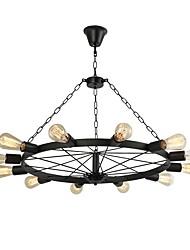 cheap -12 Bulbs 90 cm Creative Chandelier Metal Circle LED / Retro 110-120V / 220-240V