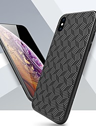 cheap -Case For Apple iPhone XS / iPhone XR / iPhone XS Max Shockproof / Frosted / Pattern Back Cover Geometric Pattern Hard Carbon Fiber