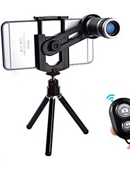 cheap -Mobile Phone Lens Long Focal Lens Glasses / Plastic & Metal / ABS+PC 8X Macro 30 mm 3 m 9 ° Lens with Stand / Creative