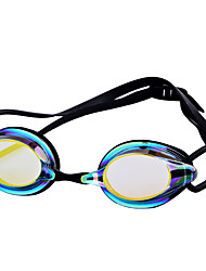 cheap -Swimming Goggles Waterproof Anti-Fog Resin Silicone PC Pink Blues Light Blue White