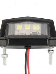 Недорогие -1pcs Проводное подключение Мотоцикл Лампы 3 Светодиодная лампа Подсветка для номерного знака Назначение Suzuki / Honda / Мотоциклы Все модели Все года