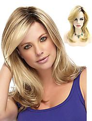 Недорогие -Парики из искусственных волос Волнистый Стиль Стрижка боб Без шапочки-основы Парик Блондинка Отбеливатель Blonde Искусственные волосы 14INCH Жен. Регулируется Жаропрочная Классический Черный Блондинка