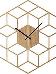 Недорогие -деревянные настенные часы в стиле куб