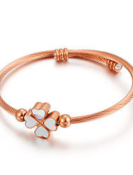 cheap -Men's Women's White Cubic Zirconia Cuff Bracelet Classic Heart Simple Classic Vintage European Fashion Rose Gold Bracelet Jewelry Gold / Silver / Rose Gold For Christmas Party Gift Daily Festival
