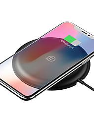 Недорогие -Usams 10 Вт Ци беспроводное автомобильное зарядное устройство светодиодный индикатор быстрой зарядки коврик с qc3.0 / 2.0 для iphone x 8plus s8 note 8