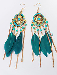cheap -Belly Dance Jewelry Women's Training / Performance Alloy Feather / Pendant Earrings