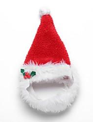 cheap -Dogs Hats, Caps & Bandanas Bandanas & Hats Christmas Winter Dog Clothes Fuchsia Red Costume Corgi Beagle Bulldog Terylene Solid Colored Christmas Headwarmers Christmas S M L
