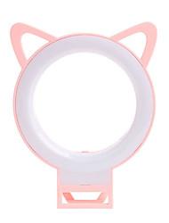 Недорогие -новинка милый кот ухо телефон светодиодный селфи кольцо загорается вспышка фотографии на камеру видео ночник для iphone ipad pc
