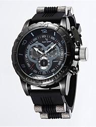 cheap -V6 Men's Sport Watch Quartz Rubber Black / Blue / Grey 50 m Casual Watch Analog Vintage Casual - Black Gray Blue