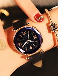 cheap -Women's Wrist Watch Quartz Leather Red / Brown / Grey Water Resistant / Waterproof Analog Fashion Colorful - Black Purple Red