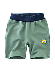 cheap -Kids Boys' Basic Print Print Cotton Shorts Green