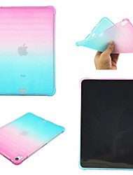 cheap -Case For Apple iPad Air / iPad 4/3/2 / iPad Mini 3/2/1 Shockproof Back Cover Color Gradient Soft TPU / iPad Pro 10.5 / iPad (2017)