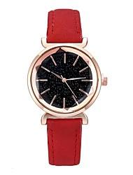 Недорогие -Жен. Нарядные часы Кварцевый Кожа Черный / Красный / Фиолетовый 30 m обожаемый Cool Аналоговый Блестящие Мода - Черный Лиловый Темно-красный