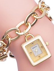 cheap -ASJ Women's Dress Watch Gold Watch Japanese Quartz White / Gold Casual Watch Analog Elegant - Gold Silver / SSUO SR626SW+CR2025