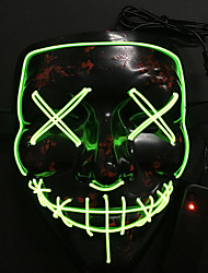 cheap -LED Mask Halloween Mask Inspired by Skeleton / Skull White Purple Halloween Halloween Masquerade Adults' Men's