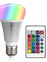 cheap -1 set 10 W LED Smart Bulbs 900 lm E26 / E27 A60(A19) 12 LED Beads Integrate LED Dimmable Remote-Controlled Decorative RGBW 85-265 V / RoHS