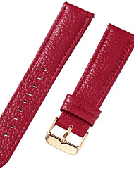 cheap -Genuine Leather / Leather / Calf Hair Watch Band Red 17cm / 6.69 Inches / 18cm / 7 Inches / 19cm / 7.48 Inches 1cm / 0.39 Inches / 1.2cm / 0.47 Inches / 1.3cm / 0.5 Inches