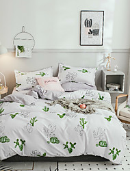 cheap -Duvet Cover Sets Floral / Chinese Style / Contemporary Poly / Cotton Printed 4 PieceBedding Sets / 4pcs (1 Duvet Cover, 1 Flat Sheet, 2 Shams)