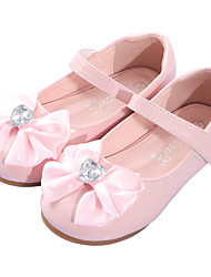 cheap -Girls' Comfort / Flower Girl Shoes Microfiber / PU Flats Dress Shoes Toddler(9m-4ys) Bowknot White / Pink Spring / Fall / Party & Evening / Rubber