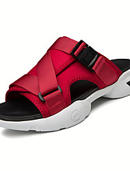 cheap -Men's Comfort Shoes Elastic Fabric Spring Casual Slippers & Flip-Flops Non-slipping Black / Red