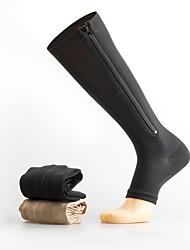 Недорогие -Муж. Жен. Спортивные носки Компрессионные рукава компрессия Носки Дышащий Противозаносный Мягкий Впитывает пот и влагу Поддерживает Черный Розовый Лайкра Зима Шоссейный велосипед Горный велосипед Бег