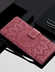 cheap -Case For Motorola MOTOOnePower / MOTO P40 / MOTO G6 Wallet / Card Holder / with Stand Full Body Cases Flower Hard PU Leather