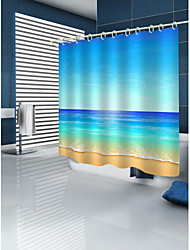 cheap -Shower Curtain With Hooks Suitable For Separate Wet And Dry Zone Divide Bathroom Shower Curtain Waterproof Oil-proof Polyester Waterproof 72in