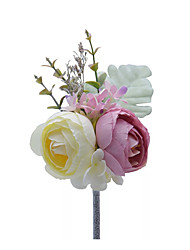 cheap -Wedding Flowers Boutonnieres / Gifts / Unique Wedding Décor Wedding / Ceremony Other Material / Linen / Polyester Blend / Special Material 11-20 cm