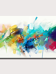 cheap -Oil Painting Hand Painted - Abstract Holiday Classic Modern Rolled Canvas