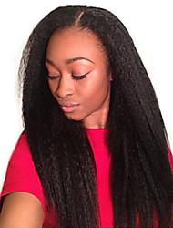 cheap -10A Kinky Straight Hair Brazilian Virgin Hair Weave Bundles Coarse Yaki 100% Human Hair Bundles Dolago Hair Products Extensions