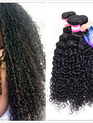 cheap -4 Bundles Peruvian Hair Kinky Curly 100% Remy Hair Weave Bundles 200 g Headpiece Natural Color Hair Weaves / Hair Bulk Bundle Hair 8-28 inch Natural Color Human Hair Weaves Odor Free Safety Extender