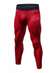 cheap -Men's Compression Pants Compression Base layer Tights Bottoms Plus Size Lightweight Breathable Quick Dry Soft Sweat-wicking Red Blue Black+Sliver Winter Road Bike Mountain Bike MTB Basketball Stretchy