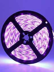 cheap -ZDM Waterproof 16.4FT/5M UV Black Light 395-405nm 3528 8mm LED Flexible Strip DC12V for Indoor Fluorescent Dance Party Stage Lighting Body Paint