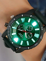 cheap -Men's Digital Watch Digital Silicone Black / White / Blue Creative New Design Noctilucent Analog Sparkle Casual - Red Green Blue
