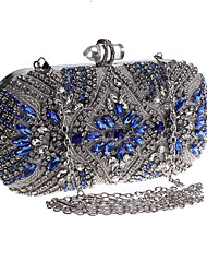 cheap -Women's Bags Acrylic Alloy Evening Bag Buttons Crystals Wedding Bags Party Event / Party Daily Silver