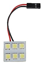 cheap -1pcs Car Light Bulbs 3 W SMD 5050 6 LED Interior Lights For universal / Toyota / Benz All Models All years