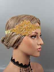 cheap -Vintage 1920s The Great Gatsby Feathers Headbands / Headdress / Headpiece with Rhinestone / Crystal / Beading 1 pc Wedding / Party / Evening Headpiece