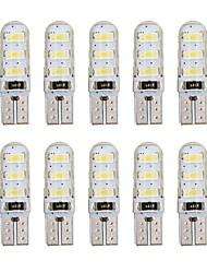 cheap -10pcs T10 Car Light Bulbs 1 W SMD 5730 60-100 lm 6 LED Side Marker Lights For