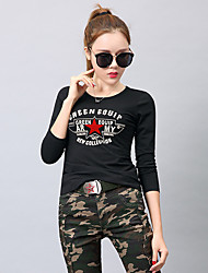 cheap -Women's Camo Hiking Tee shirt Long Sleeve Outdoor Lightweight Breathable Fast Dry Wear Resistance Tee / T-shirt Top Autumn / Fall Winter Cotton Crew Neck Camouflage Camping / Hiking Hunting Back