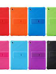 cheap -Case For Huawei Huawei Mediapad T5 10 / Huawei Mediapad M5 Lite 10 / Huawei MediaPad T3 8.0 Shockproof / with Stand Back Cover Solid Colored Soft Silicone